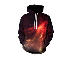 Mens Fashion Flame 3D Printing Hoodies Sweatshirt Casual Loose Sport Sweatshirt