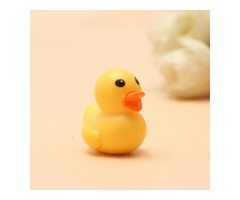 1:12 Simulation Miniature Rubber Ducky Decoration Toy For Dollhouse Office/Home/Car