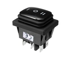 12V Waterproof 6Pin DPDT Locking ON-OFF-ON Rectangle Rocker Switch