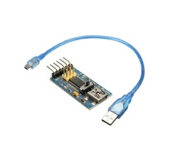 FTDI Basic FT232 FIO Pro Mini Lilypad Program Downloader For Arduino With Mini USB Adapter Cable