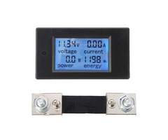 100A DC Multifunction Digital Power Meter Energy Monitor Module Voltmeter Ammeter With External 50A