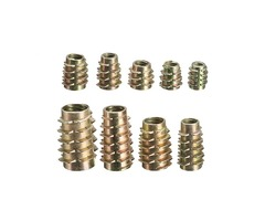 9 Size M4 M5 M6 M8 M10 Hex Drive Screw In Threaded Insert For Wood Type E