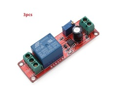 3pcs Delay Timer Switch Adjustable 0-10sec With NE555 Electrical Input 12V 10A