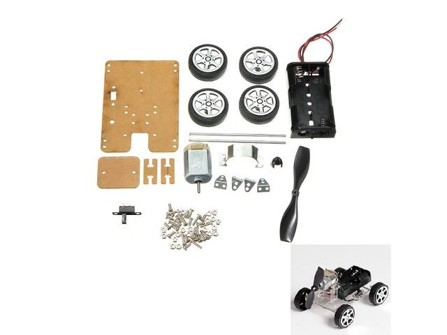 DIY Mini Wind Car 130 Brush Smart Robot Car Kit | free-classifieds.co.uk