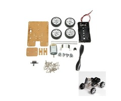 DIY Mini Wind Car 130 Brush Smart Robot Car Kit