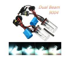 Pair 9004 35W 55W Hi-Lo Dual Beam Car Xenon White Headlight HID Light Bulbs Lamp