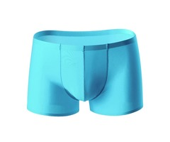 Mens Ice Silk Non-trace Ultra Thin Breathable Pure Color Soft Boxers Underwear