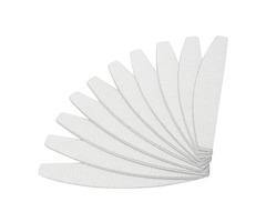 10pcs Nail File UV Gel Polish Manicure Buffer Sanding Files Crescent Sandpaper