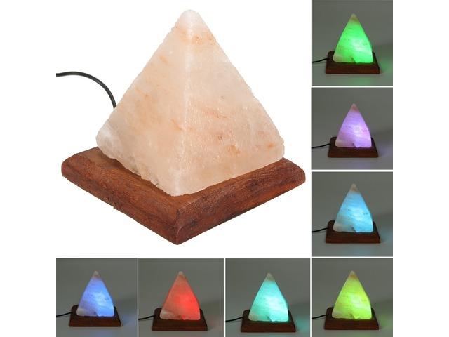 USB Pyramid Air Purifier Energize Ionized Rock Salt LED RGB Night Light Table Lamp   free-classifieds.co.uk