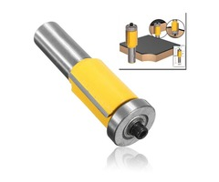 1/2 Inch Shank Flush Trim Router Bit With End Bearing Woodworking Cutter