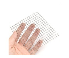10x10cm Woven Wire 304 Stainless Steel Filtration Grill Sheet Filter 4 Mesh