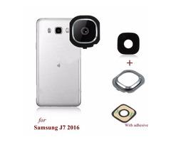 Back Rear Camera Glass Frame Holder Lens Cover For Samsung Galaxy J7 2016