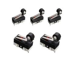 5pcs  Ultra Mini Roller Lever Actuator Micro Switch SPDT Sub Miniature Micro Switch