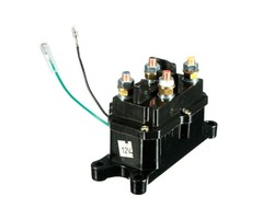 Universal 12V Solenoid Relay Contactor Winch Rocker Switch For ATV UTV Black