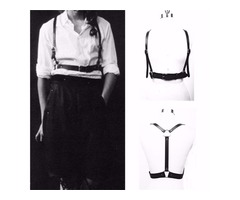 Men Women Handmade Leather Body Harnes Suspenders Corset Body Bondage Waist Belt Adjustable