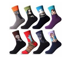 Multicolors Painting Pattern Cotton Art Socks