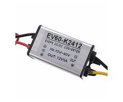Buck Converter Step Down DC 24V to 12V 5A 60W Car Power Supply Voltage Regulator