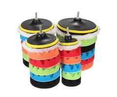 7pcs Sponge Polishing Waxing Buffing Pads Kit For Car Polisher Buffer