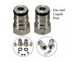 "19/32""-18 Gas Liquid Post and Poppet Ball Lock Keg Post Kit"