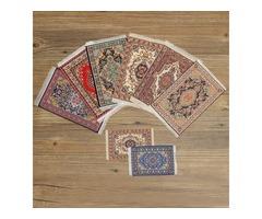 1/12 Dollhouse Turkish Carpet Rug Doll House Miniature Accessories 15x25cm TCM001-TCM010