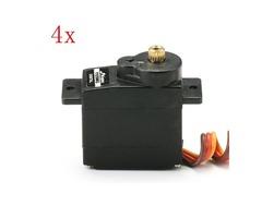 4PCS JX PDI-1109MG 9g Metal Gear Core Motor Micro Digital Servo for RC Models