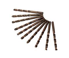 10pcs M35 1/4 Inch Shank Triangle Shank Cobalt Twist Drill Bits