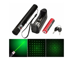 XANES GD05 532nm 5mw Green Adjustable Laser Pointer Suit With Star Cap+Battery+Charger