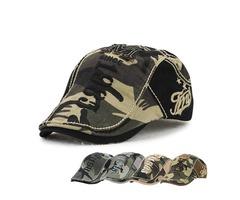 Unisex Cotton Camouflage Beret Hat Buckle Adjustable Paper Boy Military Cabbie Golf Gentleman Cap