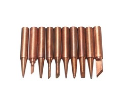 10Pcs Soldering Tip Pure Copper Electric Iron Head 900M Series Solder Tips