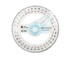 10cm Plastic 360 Degree Protractor Ruler Angle Finder Swing Arm School Office