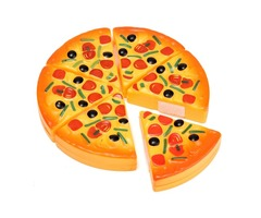 ABS Plastic Pizza Cutting Slices Toppings Simulation Children Kids Kitchen Play Food Toy