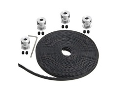 5m GT2 Timing Belt with 4pcs 16 Teeth 5mm Bore Pulley and 8pcs Screws