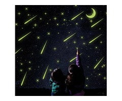 Luminous Meteor Shower Wall Stickers Glow In Darkness Home Room Window Wall Decor