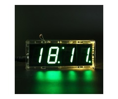 DIY 4 Digit LED Electronic Clock Kit With Vioce Light Control Function