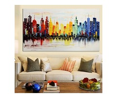 120X60CM Modern City Canvas Abstract Painting Print Living Room Art Wall Decor No Frame Paper Art