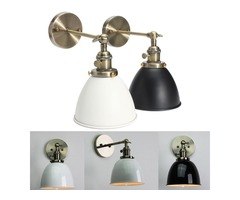 E27 Vintage Antique Industrial Bowl Sconce Loft Rustic Stair Wall Lamp Light Fixture