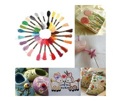 8m 24 Different Colors Cross Stitch Thread DIY Handicraft Embroidery Knitting Thread