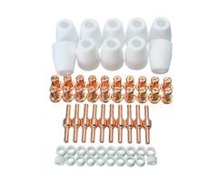 60pcs Air Plasma Cutting Cutter Consumables Extended Fit PT31 LG40 Torch CUT-50D