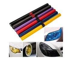 "Car Light Cover Auto Vehicle Shade Taillight Headlight PVC Foil Film Cover 16"" x 48"""
