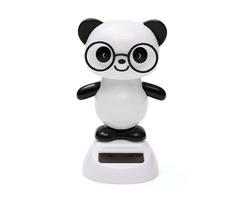Solar Powered Glasses Panda Flip Flap Swinging Shook His Head Doll