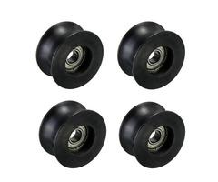4pcs 8mm U Groove Ball Bearing 0840UU Groove Guide Pulley Sealed Rail Ball Bearing 8*40*20.7mm