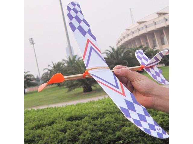 5PCS DIY Foam Plane Elastic Rubber Band Powered Aircraft Kit Model Toy | free-classifieds.co.uk