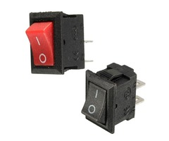 20pcs 250V 3A Mini Boat Rocker Switch 2-Pin Plastic Button ON/Off SPST