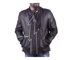 Jay Garrick leather jacket