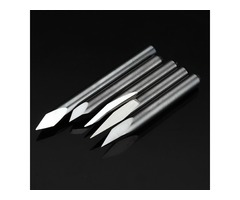 5pcs 3.175mm Shank 0.2mm 15/20/30/45/60 Degree Tungsten Steel Engraving Bits CNC Tool