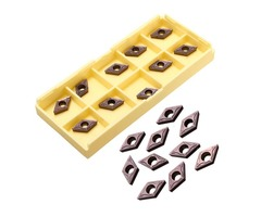Drillpro 10pcs DCMT0702 EM YBC205 Carbide Insert Turning Tool Holder Inserts For Stainless Steel