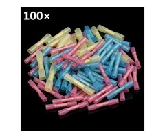 Excellway® HS01 100pcs Heat Shrink Wire Crimp Terminals BUTT Waterproof Connector