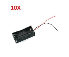 2X 1.5V AA Battery Holder Case Enclosed Box With Wires 10pcs | free-classifieds.co.uk