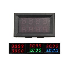 RUIDENG 0-33V 0-3A Four Bit Voltage Current Meter DC Double Digital LED Display Voltmeter Ammeter