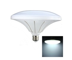 E27 27W 72 SMD 5730 LED Cool White Saucer Globe Light Lamp Bulb AC220V